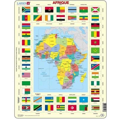rahmenpuzzle afrika auf franz sisch 70 teile larsen puzzle online kaufen. Black Bedroom Furniture Sets. Home Design Ideas