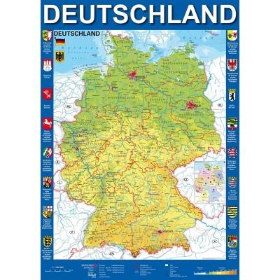 deutschland karte kaufen Deutschlandkarte   1000 Teile   SCHMIDT SPIELE Puzzle online kaufen