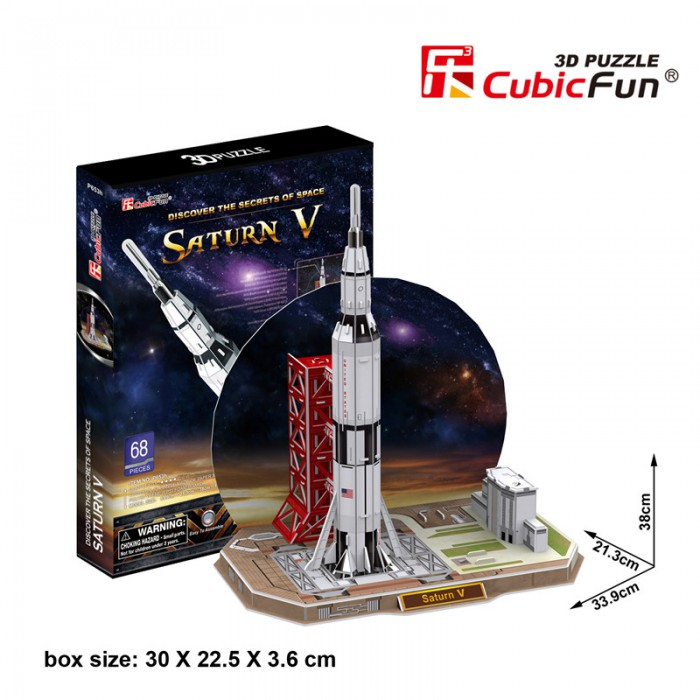 3D Puzzle - Saturn V