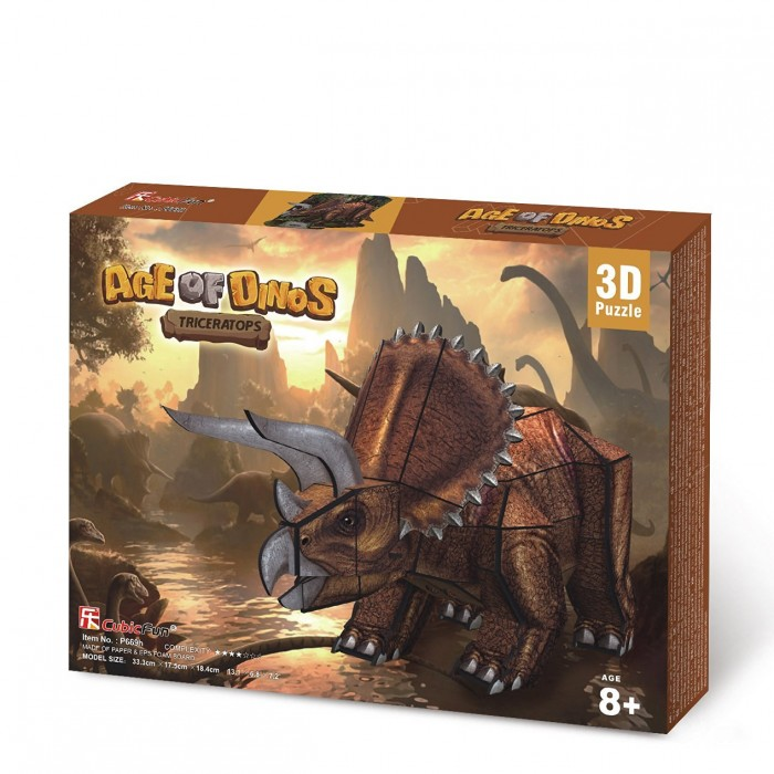 3D Puzzle - Triceratops Dinosaurier