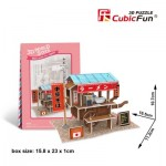 Cubic-Fun-W3103h 3D Puzzle World Style - Welcome to Japan