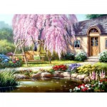 Puzzle   Cherry Blossom Cottage