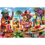 Puzzle   Dogs Drinking at the Beach