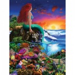 Puzzle  Master-Pieces-31723 XXL Teile - Book Box - Little Mermaid