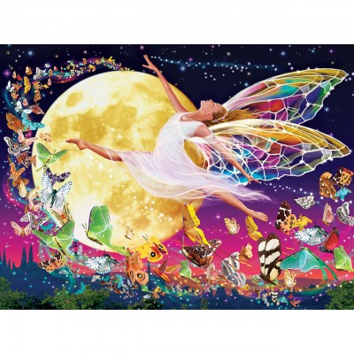 Puzzle Master-Pieces-31852 XXL Teile - Glow in the Dark - Moon Fairy