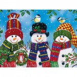 Puzzle  Master-Pieces-31910 XXL Teile - Snowy Afternoon Friends