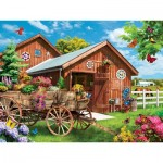 Puzzle  Master-Pieces-32056 Lazy Days - Flying to Flower Farm