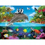 Puzzle  Master-Pieces-32112 XXL Teile - Dolphin Ride