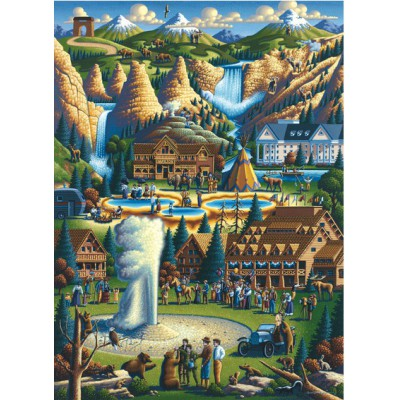 Master-Pieces-71171 Puzzle im Koffer - Yellowstone