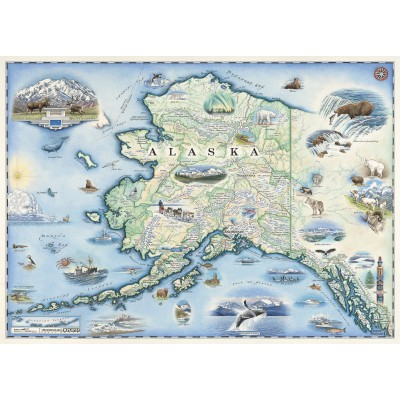 Puzzle Master-Pieces-71840 Alaska Map