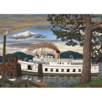 Puzzle  Cobble-Hill-51016 EJ Hughes - The Car Ferry at Sidney BC