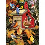 Puzzle  Cobble-Hill-51803 Greg and Company - Fall Birds