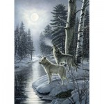 Puzzle  Cobble-Hill-51811 James A. Meager - Wolves by Moonlight
