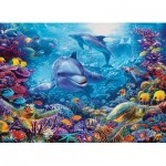 Puzzle  Cobble-Hill-51838 Dolphins at Play