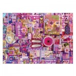 Puzzle  Cobble-Hill-51866-80151 Shelley Davies: Purple