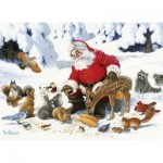 Puzzle  Cobble-Hill-54605 XXL Teile - Family - Santa Claus and Friends
