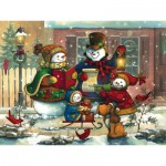 Puzzle  Cobble-Hill-54617 Janet Stever: Weihnachtslied