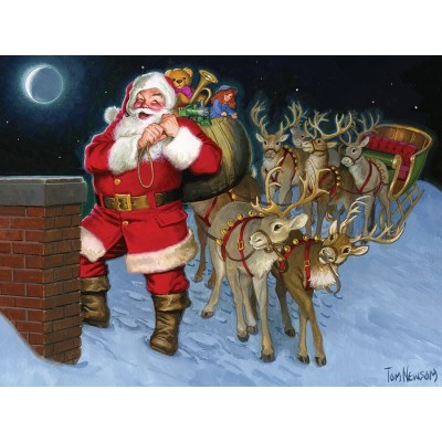 Puzzle Cobble-Hill-58883 Santa by the Chimney