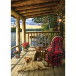 Puzzle  Cobble-Hill-58887 Lake Cabin Labrador