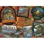Puzzle  Cobble-Hill-80040 Cabin Signs