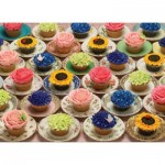 Puzzle  Cobble-Hill-80057 Cupcakes and Saucers