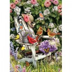Puzzle  Cobble-Hill-80090 Summer Adirondack Birds