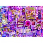 Puzzle  Cobble-Hill-80151 Purple