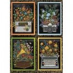Puzzle  Cobble-Hill-80269 Floral Objects