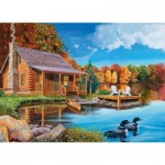 Puzzle  Cobble-Hill-85022 XXL Teile - Loon Lake