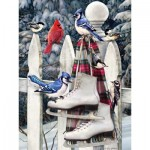 Puzzle  Cobble-Hill-85026 XXL Teile - Birds with Skates