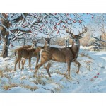 Puzzle  Cobble-Hill-85030 XXL Teile - Persis Clayton Weirs - Winter Deer