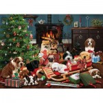 Puzzle  Cobble-Hill-85055 XXL Teile - Christmas Puppies