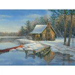 Puzzle  Cobble-Hill-88021 XXL Teile - Winter Cabin