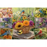 Puzzle  Cobble-Hill-89007 Rosemary's Birds