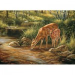 Puzzle   XXL Teile - Deer Family
