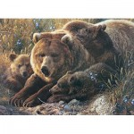 Puzzle   XXL Teile - Grizzly Family