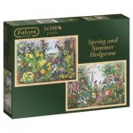 Jumbo-11104 2 Puzzles - Spring and Summer Hedgerow