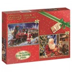 Jumbo-11122 2 Puzzles - All Ready for Christmas