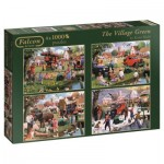 Jumbo-11145 4 Puzzles - Kevin Walsh - The Village Green