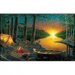 Puzzle   Ervin Molnar - Evening by the Lake