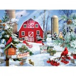 Puzzle   Lori Schory - A Snowy Day on the Farm