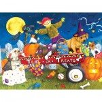 Puzzle  Sunsout-11260 XXL Teile - Halloween Puppies