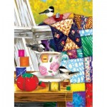 Puzzle  Sunsout-12550 XXL Teile - Ashley Davis - Afternoon Quilt Mending