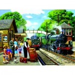 Puzzle  Sunsout-13730 Kevin Walsh - The Train to the Coast