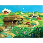 Puzzle  Sunsout-14079 XXL Teile - Easter Egg Hunt