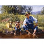 Puzzle  Sunsout-16836 XXL Teile - Fishing With Grandpa