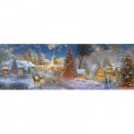Puzzle  Sunsout-19295 XXL Teile - The Stillness of Christmas