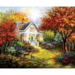 Puzzle  Sunsout-19340 Nicky Boehme - Autumn Overtures