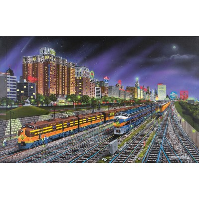 Puzzle Sunsout-21385 Robert West: Chicago Nights