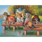 Puzzle  Sunsout-28039 XXL Teile - Fishing on the Dock